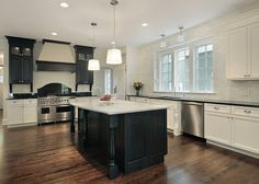 Kitchen Ideas Black Cabinets black-cabinet-white-countertop-marble-metal-backsplash-tile love