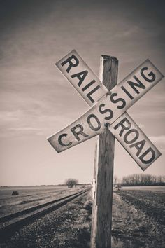 I look at this image and I see that there is a railroad there and should slow down. There may be a train coming and you have to be aware. Nebraska, Diesel, Photo Print, Old Trains, Train Tracks, Fine Art Photography, White Photography, Railroad Tracks, Holland