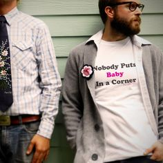 Nobody Puts Baby In a Corner Men's Perfect Fit T by trulysanctuary.etsy.com