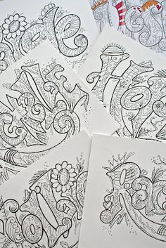 Awesome lettering and other nifty mixed media here tangle art, tangle doodle, zen doodle Tangle Doodle, Tangle Art, Doodles Zentangles, Zen Doodle, Doodle Lettering, Creative Lettering, Typography, Doodle Art Journals, Art Journal Pages