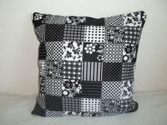 Decorative Fun Black and White Patchwork by heartfelthandikraftz, $23.00