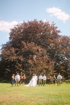 An outdoor wedding ceremony | Matt & Kirsten's DIY, backyard Maryland wedding | Images: Horace & Mae Photography