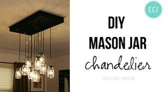Great DIY for a mason jar chandelier. I really want to try this!