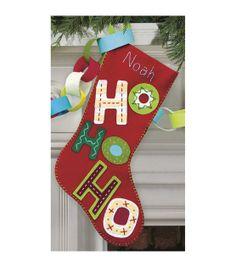 Dimensions Felt Applique Kit Ho Ho Ho Stocking, , hi-res