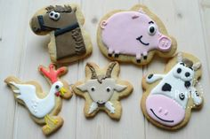 Festive Farmyard! Using Santa boot, Santa face, snowflake, snowman and reindeer cookie cutters