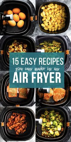 15 easy air fryer recipes that you need in your life! We've got you covered with recipes for air fryer snacks, sides and mains! Crispy and delicious with a fraction of the oil. Frozen Sweet Potato Fries, Sweet Potato Toast, Honey Chicken Wings, Air Fryer Chicken Wings, Best Lunch Recipes, Amazing Recipes, Vegan Recipes, Dinner Recipes, Vegane Rezepte
