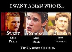 and hot like all three of them! How about everything like Finnick #teamfinnick