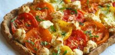 rustic tomato cheese tart - Google Search