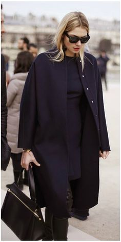 Casual Winter Outfits Ideas For Work 2018 03 Mode Style, Style Blog, Style Me, Navy Style, Fashion Mode, Look Fashion, Womens Fashion, Paris Fashion, Net Fashion