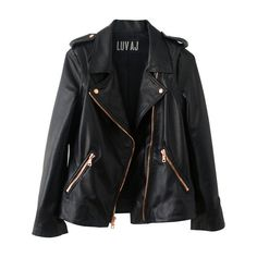The Moto Jacket- Plain Lambskin w/ Rosegold Hardware (201.350 CLP) ❤ liked on Polyvore featuring outerwear, jackets, tops, coats, moto zip jacket, lamb leather jacket, rider jacket, rose gold jacket and biker jacket