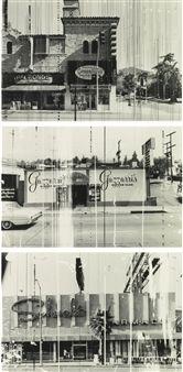 (3) GREENBLATT'S DELI, GAZZARRI'S SUPPER CLUB AND SCHWAB'S PHARMACY By Ed Ruscha
