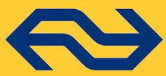 De kleuren blauw, geel, wit komen overal terug samen met het logo van de NS. Het lettertype dat ze gebruiken is duidelijk