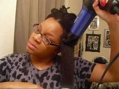 Blow Drying & Flat Ironing African American Hair