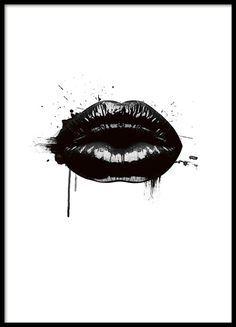 Fashion Lips, poster i gruppen Posters och prints hos Desenio AB (8490)