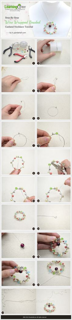 Step-By-Step Wire Wrapped Beaded Garland Necklace Tutorial