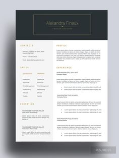ZAMTEX RESUME We bring you this simple and clean resume design that ...