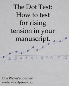 The Dot Test -- One way to test for rising tension in your story.   #writing
