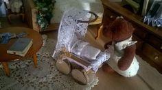Miniatur Stubenwagen Puppenhaus unique von minis4you auf Etsy