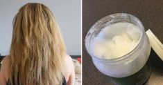 Is coconut oil good for dry hair? I put coconut oil on my hair to test the rumored benefits, and am sharing my before and after photos. Coconut Oil Hair Treatment, Coconut Oil Hair Growth, Coconut Oil Hair Mask, Coconut Oil For Skin, Oil For Curly Hair, Oil For Hair Loss, Hair Mask For Growth, Hair Growth Oil, Natural Hair Care