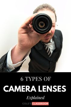 If you're looking to expand your collection of camera lenses, here are the 6 types of lenses to consider, depending on what you primarily shoot. Newborn Photography Tips, Wedding Photography Tips, Photography Basics, Macro Photography, Family Photography, Landscape Photography, Portrait Photography, Camera Lenses Explained, Types Of Cameras