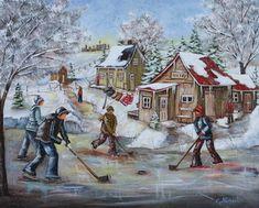 Une partie Christine Genest, Winter Scenery, Hockey, Art Plastique, Artist Art, Montreal, Watercolor Art, Original Paintings, Artists, Image