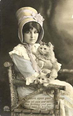 did you ever notice cats never change their outfits - they look the same as they did 150 years ago? LOL