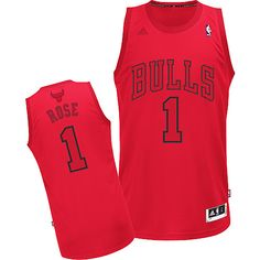 6c44d1174c2a Adidas NBA Chicago Bulls 1 Derrick Rose Big Color Fashion Swingman Christmas  Day Red Jerseys Squad