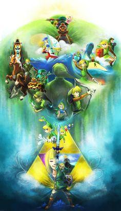 25 Years of The Legend of Zelda by WingJourneys.deviantart.com on @deviantART