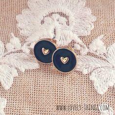 Herz Ohrstecker ♡ Heart Earrings // www.lovely-things.com #lovelythingscom