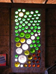 Like: bottles as translucent barriers.  Bathroom/bedroom or bathroom/outside window for added light with privacy? Detail above door?