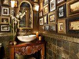 bathroom with photos