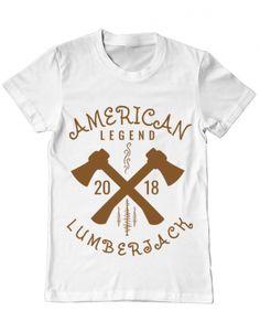 Tricou Tricou American lumberjack Camping, T Shirt, Clothes, Tops, Design, Women, Fashion, Campsite, Supreme T Shirt