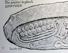 Lowther, hogback, Viking, Cumbria, stone, monument, longship, ship