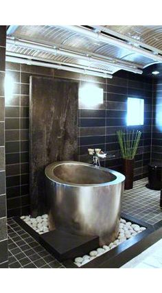 elliptical stainless steel tub