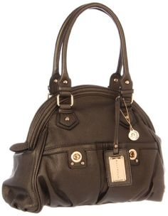 BIG BUDDHA Addison Satchel,Gunmetal