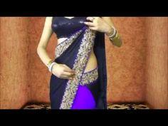 How To Wear Bollywood Saree Blouse-Drape Sari Wraping Video/Low Waist Saari/Choli Drape Sarees, Saree Draping Styles, Saree Styles, Mac Makeup Kits, Best Mac Makeup, Sari Dress, Saree Blouse, Bollywood Style, Bollywood Fashion