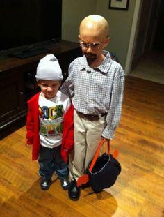 dos niñops disfrazados de personajes de breaking bad