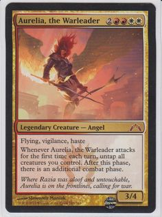Magic the Gathering Card Reviews: Aurelia, the Warleader from Gatecrash - #mtg
