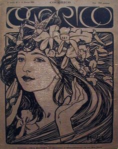 Cover for Cocorico, by Mucha. 1899.
