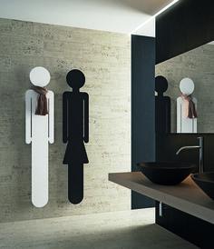 A very funny couple of radiators! Oreste & Emma designed by Andrea Crosetta