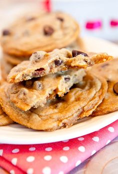 Averie Cooks » Soft and Chewy Snickers Chocolate Chip Cookies