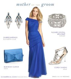 Dazzling Blue Dress for the Mother of the Groom