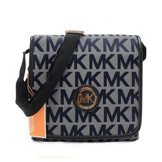 Michael Kors Jet Set Travel Logo Crossbody Bags in Navy