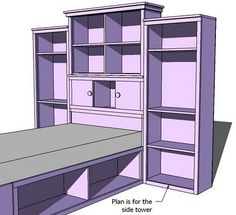 Ana White | Build a Side Tower Plans for the Storage Bed Wall | Free and Easy DIY Project and Furniture Plans