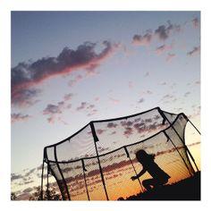 Sunset jump on a Springfree Trampoline (via Instagram)