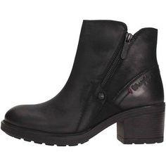 e09157f9641eb Dettagli su WRANGLER stivali donna tronchetto VAIL ZIP WL172536 BLACK pelle  nera tacco basso
