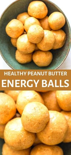 These Healthy Peanut Butter Energy Balls are an easy high protein snack that are grain free, gluten free and naturally sweetened.  A great snack for kids and toddlers as well as adults.