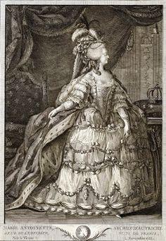 1780s Marie Antoinette in Rose Bertin designed court dress