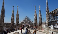 Laura climbs to the roof of the Duomo in Milan. What's going on??