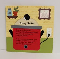 Breezy Chicken recipe card Great lay-out for a crockpot recipe